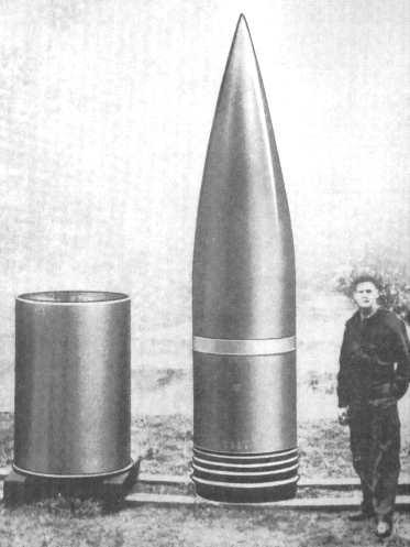 Cañón ferroviario Dora Schwerer Gustav railway gun proyectil projectile